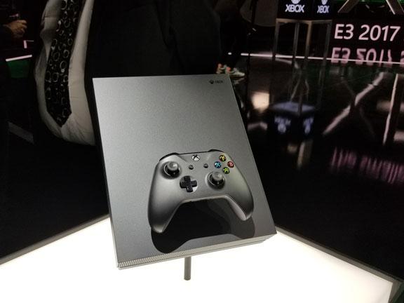 Gambar Xbox One X.