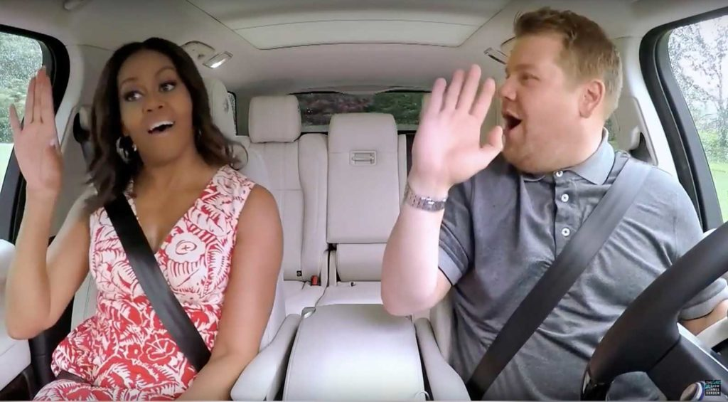 Michelle Obama Carpool Karaoke bersama James Corden