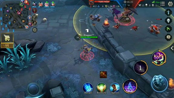 Gameplay Arena of Valor - Perbedaan AOV dengan Mobile Legends